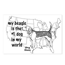 Beagle World Postcards (Package of 8)
