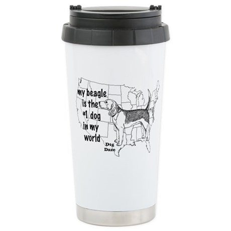 Beagle World Stainless Steel Travel Mug