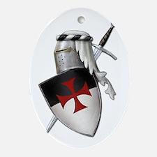 Knights Templar Ornament (Oval)
