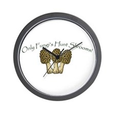 Only Fungi's Hunt Shrooms! Wall Clock