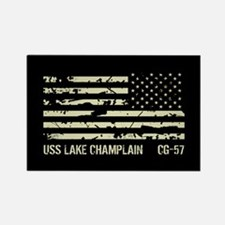 USS Lake Champlain Rectangle Magnet