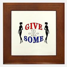 """""""Give-R-Some"""" Framed Tile"""