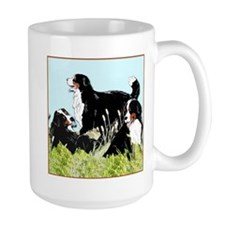Berners in the grass Mug