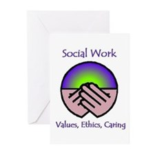 Social Work Values Greeting Cards