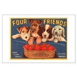 Four Friends Large Poster