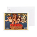 Four Friends Greeting Cards (Pk of 10)