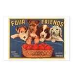 Four Friends Postcards (Package of 8)
