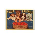Four Friends Rectangle Magnet (10 pack)