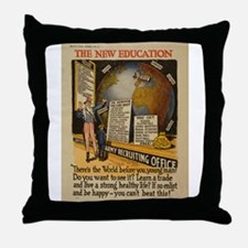 The New Education Throw Pillow