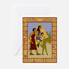 Flight to Egypt Greeting Card with Exodus Border