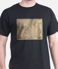Vintage Map of Downtown Boston MA (1911) T-Shirt