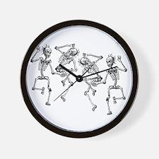 Dancing Skeletons Wall Clock