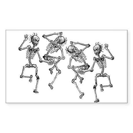 Dancing Skeletons Sticker (Rectangle)