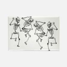 Dancing Skeletons Rectangle Magnet
