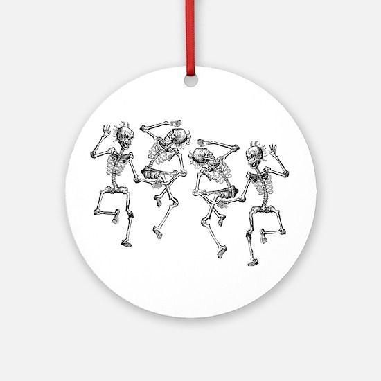 Dancing Skeletons Ornament (Round)