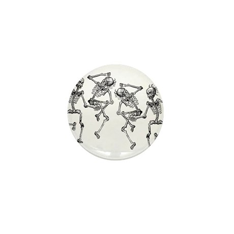 Dancing Skeletons Mini Button (10 pack)