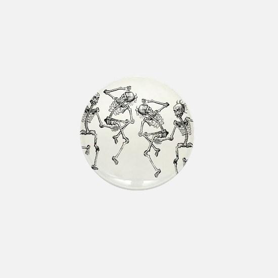 Dancing Skeletons Mini Button
