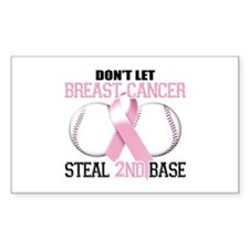 Don't Let Breast Cancer Steal 2nd Base Decal