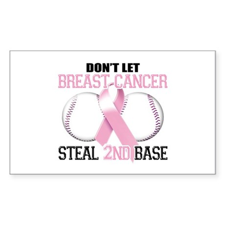 Don't Let Breast Cancer Steal 2nd Base Sticker (Re