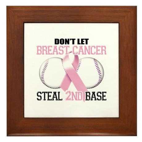 Don't Let Breast Cancer Steal 2nd Base Framed Tile