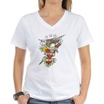 Live Free Or Die Women's V-Neck T-Shirt
