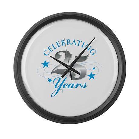 Celebrating 25 years Large Wall Clock