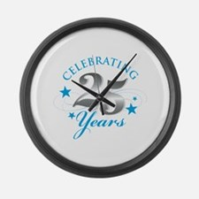 Celebrating 25 years Large Wall Clock