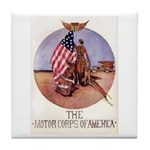 The Motor Corps of America Tile Coaster