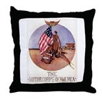 The Motor Corps of America Throw Pillow
