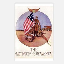 The Motor Corps of America Postcards (Package of 8