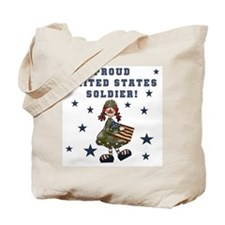 Proud United States Soldier Tote Bag