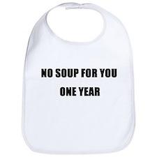 Unique No soup for you Bib
