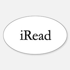 iRead Oval Decal