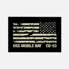 USS Mobile Bay Rectangle Magnet