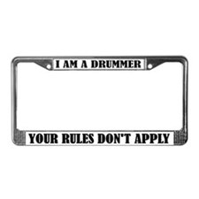 Funny I Am A Drummer License Plate Frame