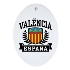 Valencia Espana Ornament (Oval)