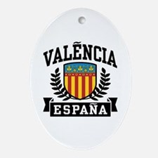 Valencia Espana Ornament (Oval)