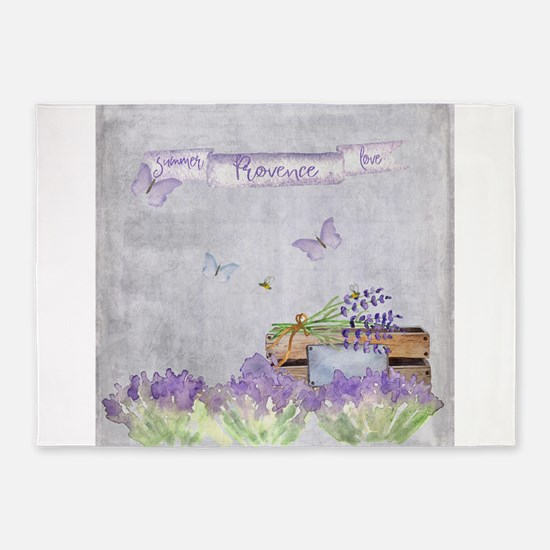 Summer-Provence - Love 5'x7'Area Rug