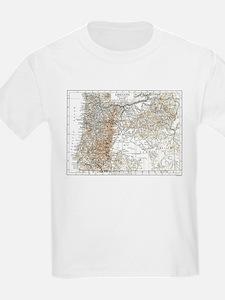 Vintage Map of Oregon (1911) 2 T-Shirt