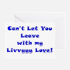 Livvvyyy Love Greeting Card