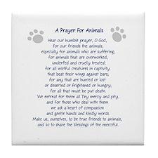 A Prayer For Animals Tile Coaster
