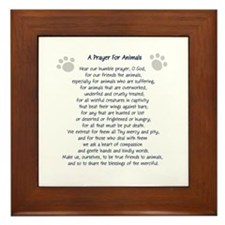 A Prayer For Animals Framed Tile