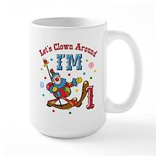 Clown Around 1st Birthday Mug
