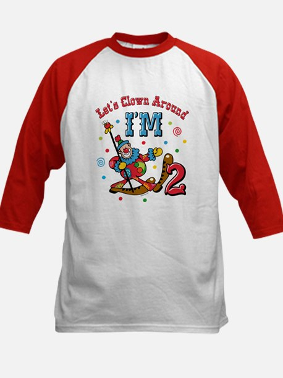 Clown Around 2nd Birthday Kids Baseball Jersey