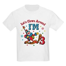 Clown Around 3rd Birthday T-Shirt