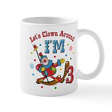 Clown Around 3rd Birthday Mug