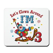 Clown Around 3rd Birthday Mousepad