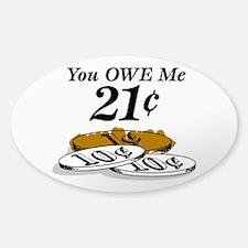 21¢ Sticker (Oval)