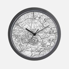 Vintage Map of Athens Greece (1911) Wall Clock