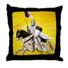 Mounted Templar Throw Pillow